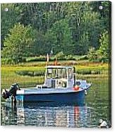 Fishing Boat Cape Neddick Maine Acrylic Print