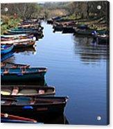 Fishing Boat Row Acrylic Print