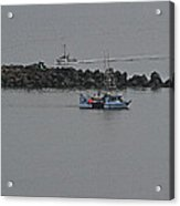 Fishing Boats Almost Home For The Night Acrylic Print