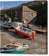 Fishing Boats At Mullion Cove Acrylic Print