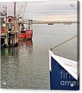 Fishing Boats At Pier Acrylic Print