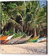 Fishing Boats B Mirissa Beach Acrylic Print