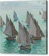 Fishing Boats Calm Sea Acrylic Print