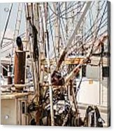 Fishing Boats Equipment Chaos Acrylic Print