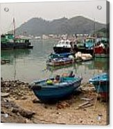 Fishing Boats - Hong Kong Acrylic Print
