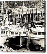Fishing Boats In Alma Acrylic Print