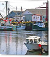 Fishing Boats In Branch-nl Acrylic Print