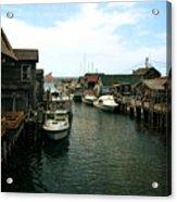 Fishing Boats In Fishtown Acrylic Print