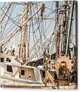 Fishing Boats In Harbour Acrylic Print