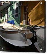 Fishing Boats In Manarola - Cinque Terre Acrylic Print