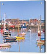 Fishing Boats In The Howth Marina Acrylic Print