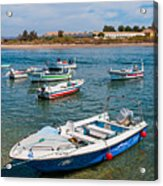 Fishing Boats Acrylic Print by Luis Alvarenga