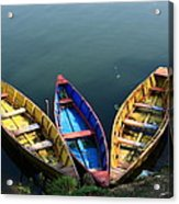 Fishing Boats - Nepal Acrylic Print