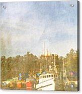 Fishing Boats Newport Oregon Acrylic Print by Carol Leigh