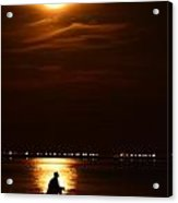 Fishing By Moonlight01 Acrylic Print