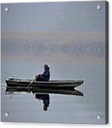 Fishing Day Fog Acrylic Print