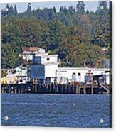 Fishing Docks On Puget Sound Acrylic Print