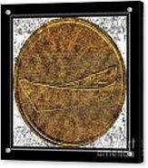 Fishing Dory - Brass Etching Acrylic Print