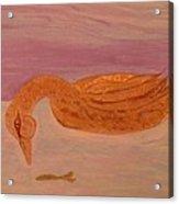 Fishing Duck Acrylic Print