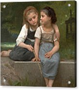 Fishing For Frogs Acrylic Print by William Bouguereau
