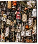 Fishing Gear Cape Neddick Maine Acrylic Print by Thomas Schoeller