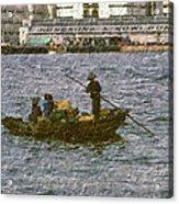 Fishing In Hong Kong Vintage  Acrylic Print