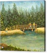 Fishing In New England Acrylic Print