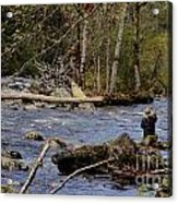 Fishing In Pacific Northwest Acrylic Print