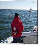 Fishing In Rough Seas Acrylic Print