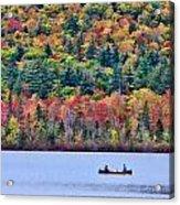 Fishing In The Fall Colors On Lake Chocorua Acrylic Print