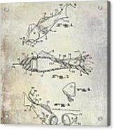Fishing Lure Patent 1959 Acrylic Print