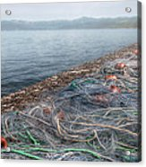 Fishing Nets To Dry Acrylic Print