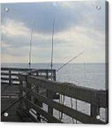 Fishing Off Rodanthe Pier Acrylic Print