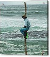 Fishing On A Pole Acrylic Print