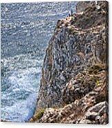 Fishing On The Cliffs Acrylic Print