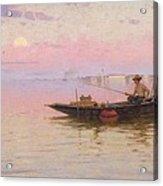 Fishing On The Lagoon, Venice, C.1890 Acrylic Print