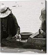 Fishing On Tonle Sap Acrylic Print