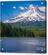 Fishing On Trillium Lake Acrylic Print