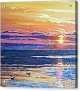 Fishing Paradise Sunset Acrylic Print by Andrei Attila Mezei