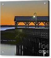 Fishing Pier At Dusk Acrylic Print