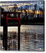 Fishing Pier Sunset  Acrylic Print