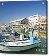 Fishing Port In Jaffa Tel Aviv Israel Acrylic Print