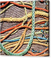 Fishing Ropes And Net Acrylic Print