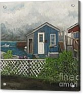 Fishing Shacks Alaska Acrylic Print by Reb Frost