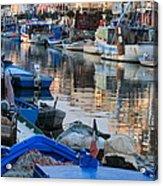 Fishing Ships In Grado Acrylic Print
