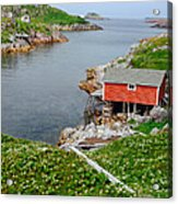 Fishing Stage Little Fogo Island Newfoundland Acrylic Print