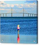 Fishing Tampa Bay Acrylic Print by David Lee Thompson