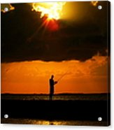 Fishing The Sun Acrylic Print