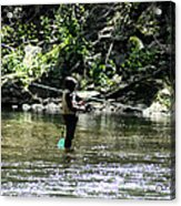 Fishing The Wissahickon Acrylic Print