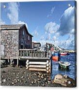 Fishing Town Acrylic Print